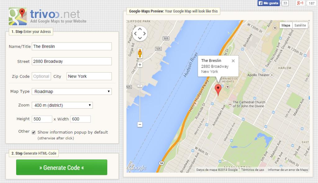 google-maps-generator